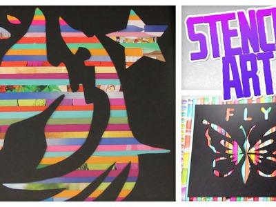 Magazine Stencil Art - Do It, Gurl