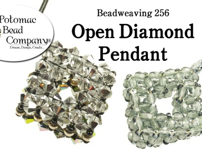 Make an Open Diamond Beaded Pendant