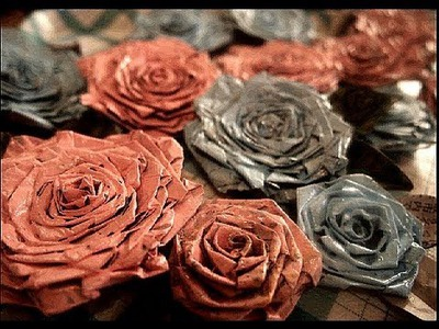 Make News Paper Rose. Recycling Crafts