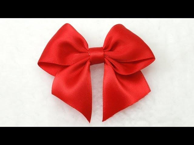 Make Simple Easy Bow, DIY, Ribbon Hair Bow, Tutorial, Bow #3