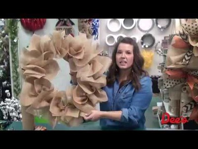 Make Your Own Burlap Mesh Wreaths, Fall 2014 Edition