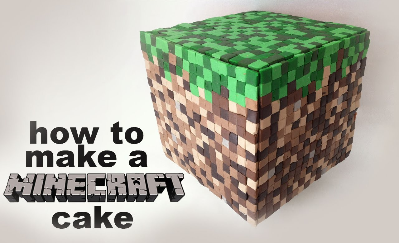 Minecraft Cake Recipe tutorial 3D by Ann Reardon How To Cook That