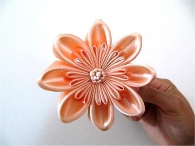Moños  hermosos para el cabello en cintas flores pétalos triple dobles