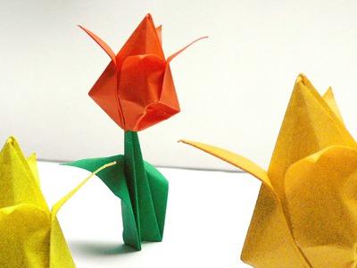 Origami Blumen falten - #01 Tulpe