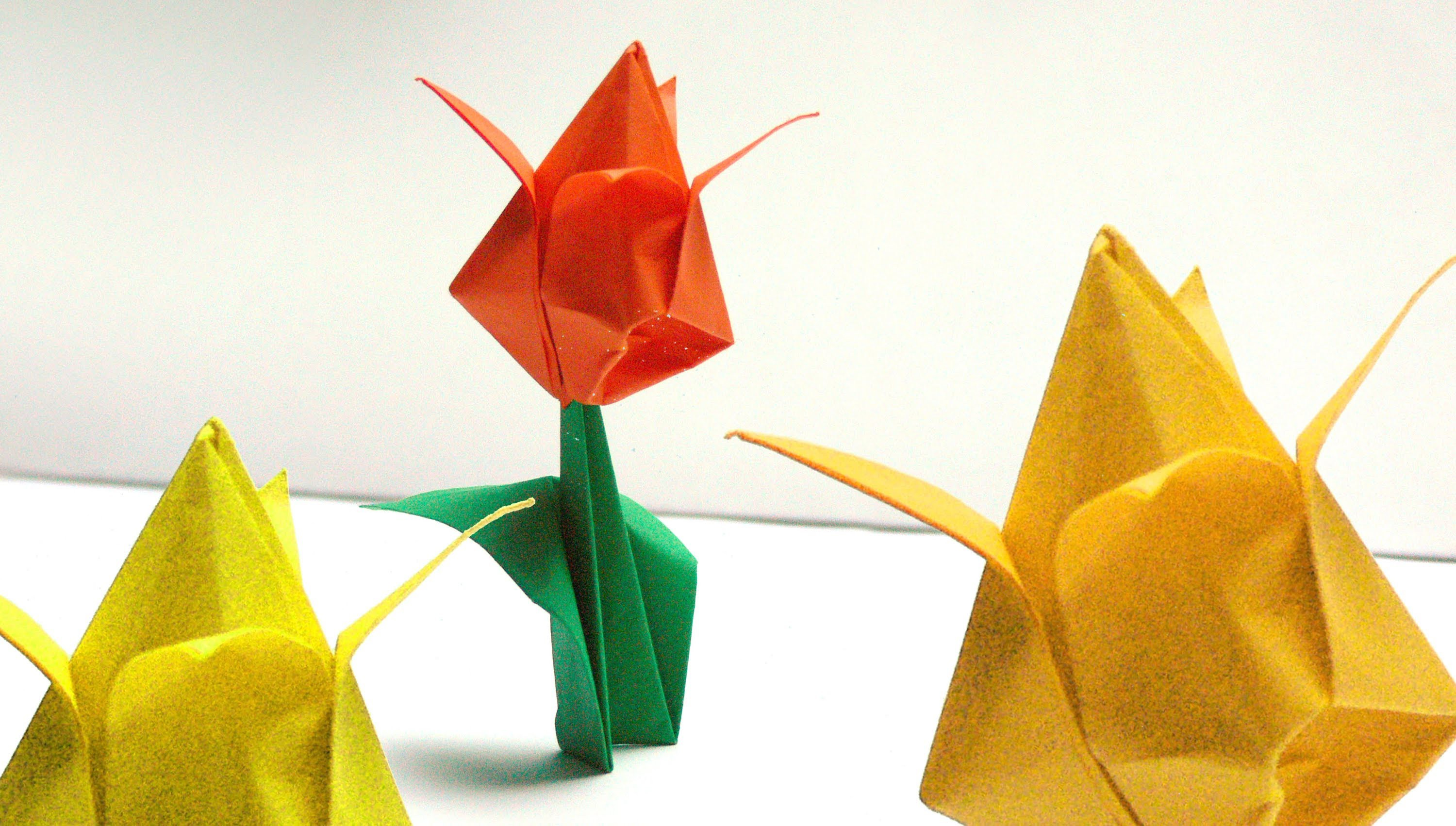 origami blumen falten 01 tulpe my crafts and diy projects. Black Bedroom Furniture Sets. Home Design Ideas