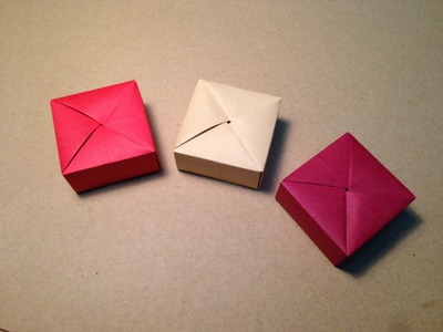Origami Gift Box with One Sheet of Paper