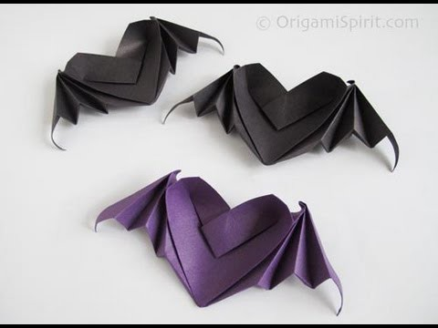Origami Heart With Bat Wings
