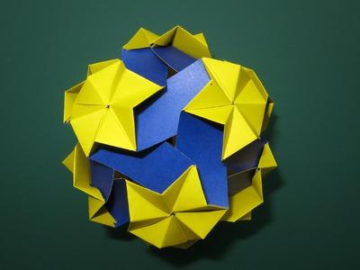 Origami - modular - kusudama - celes 90 (Miyuki Kawamura) - tutorial - dutchpapergirl