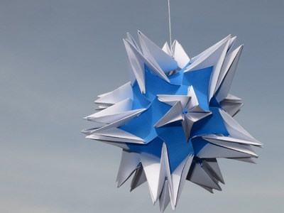 Origami - modular - kusudama - celes 240 - tutorial - dutchpapergirl