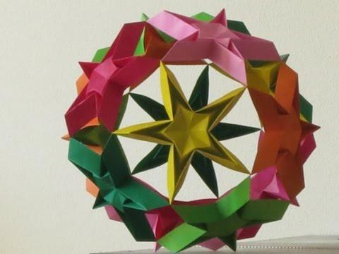 Origami - modular - kusudama - starball - tutorial - dutchpapergirl
