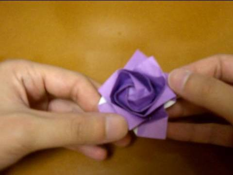 Origami rose