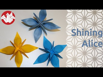Origami - Shining Alice (étoile à huit branches)