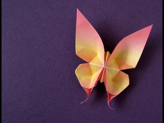 Origami Swallowtail Butterfly -tutorial