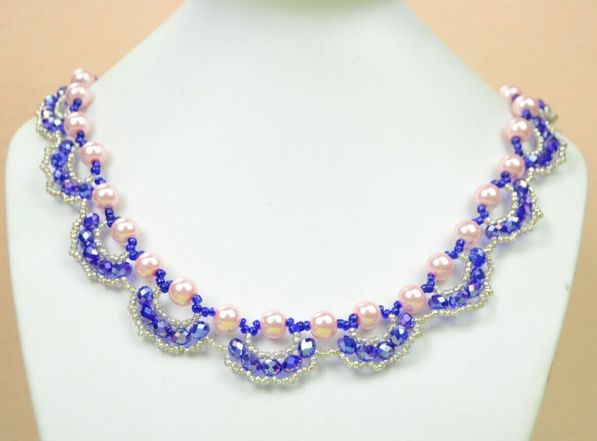 PandaHall Jewelry Making Tutorial Video---How to Make an Ornate Pearl and Crystal Necklace