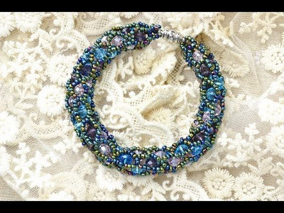 PandaHall Jewelry Making Tutorial Video -- How to Make a Tubular Netting Stitch Bead Bracelet