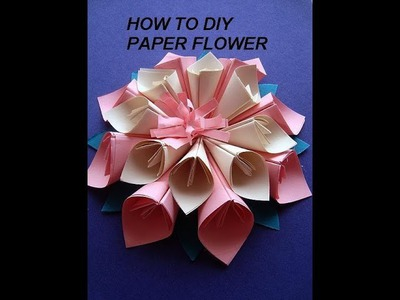 PAPER FLOWER, KANZASHI how to diy, paper crafts,  wall decor, paper art, wedding decor