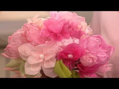 Paper Flower Wedding Craft - DIY Weddings - Martha Stewart Weddings
