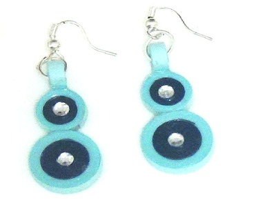 Paper Quilling Simple Trendy Blue Earring Tutorial.