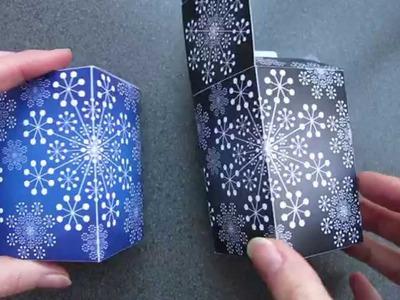 Papercraft - box - x-mas box - tutorial - dutchpapergirl