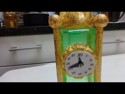 Plastic Bottle Crafts: How to Make a Table Clock