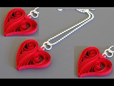Quilling Made Easy # How to make Beautiful Love Chain RED using Paper Art Quilling -Paper Art
