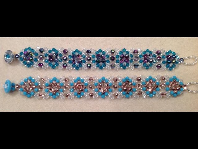 Quilted Crystal Bracelet Tutorial