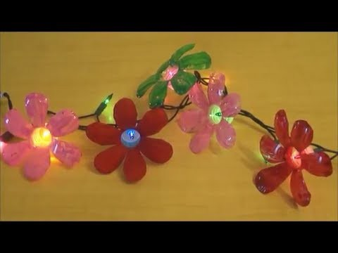 Recycle : Plastic Water Bottle Flowers - Diy