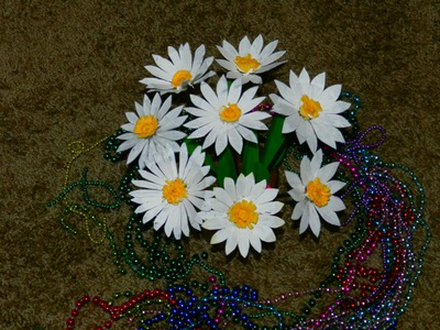 Recycled DIY: How to make DAISY flowers with waste plastic milk jug?