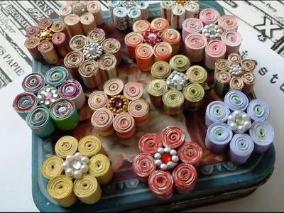 Rolled Paper Flower Tutorial