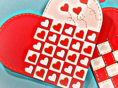 San Valentin: Cómo hacer una tarjeta corazón. Heart card.