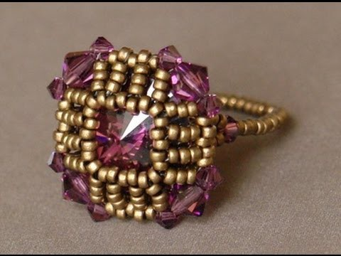 Sidonia's handmade jewelry - How to bezel a round rivoli and make it look like a square