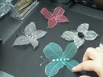 Skeleton leaves butterfly tutorial