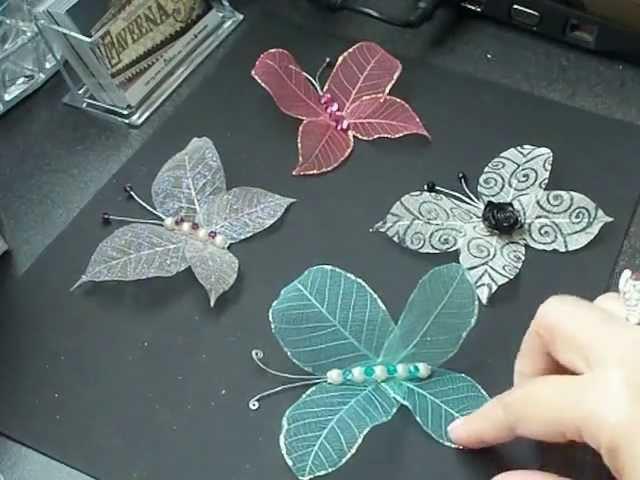 Skeleton leaves butterfly tutorial