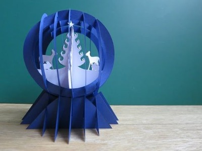 Sliceform - papercraft - snow globe - dutchpapergirl