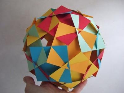 Sliceform - squares (George Hart) - tutorial - dutchpapergirl