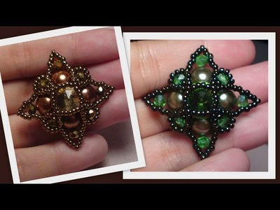 Startopia Pendant Beading Tutorial by HoneyBeads (Photo tutorial)