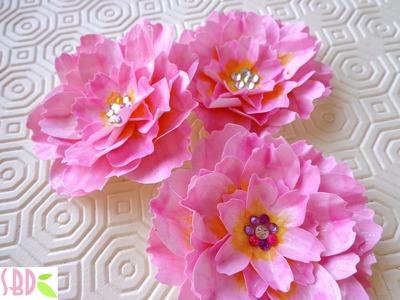 Tecnica Scrapbooking: Fiori di Loto di carta - Paper Lotus
