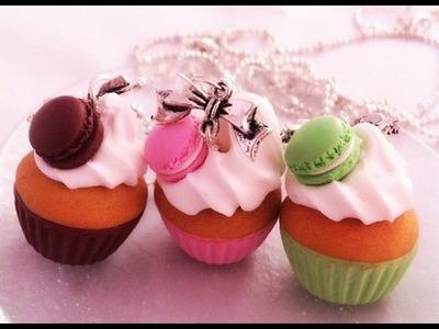 [Tuto fimo] le cupcake et son macaron ou chocolat.