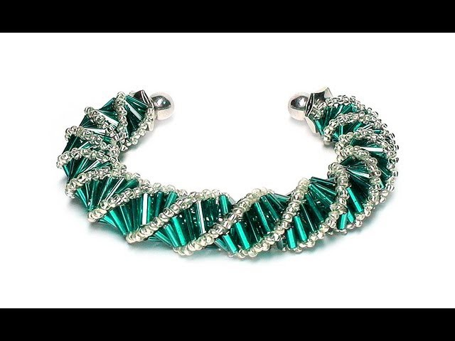 Tutorial: beads style №3 for pandora bracelet. Спиральный жгут из бисера и стекляруса