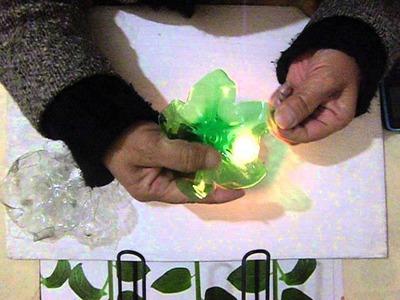 Tutorial: Como preparar las flores de botellas de plastico
