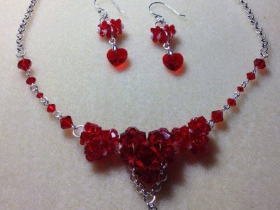 (Tutorial) Sweet Love Hearts Necklace & Earrings (Video 28)