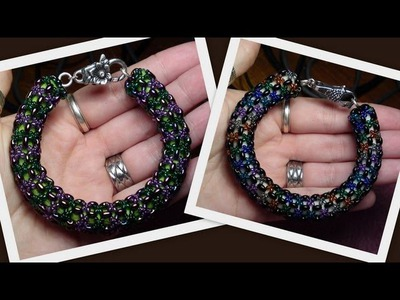 Twin bead Netted Spiral Beading Tutorial by HoneyBeads (Photo tutorial)