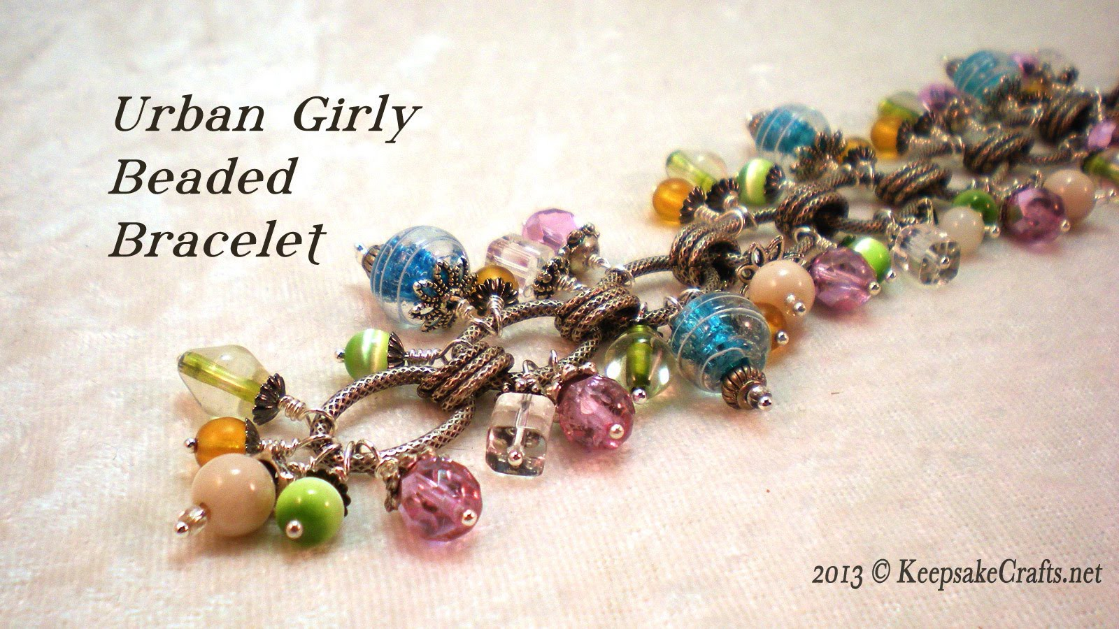 Urban Girly Bead Dangle Bracelet Video Tutorial