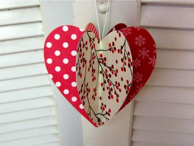 Valentines day paper heart decoration