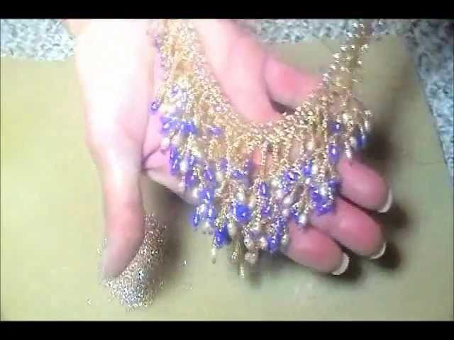 Waterfall Bib Style Necklace