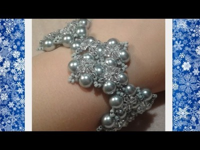 Winterglow Bracelet Beading Tutorial by HoneyBeads