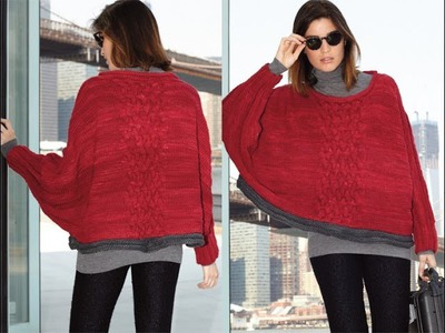 #16 Cable Panel Poncho, Vogue Knitting Holiday 2012