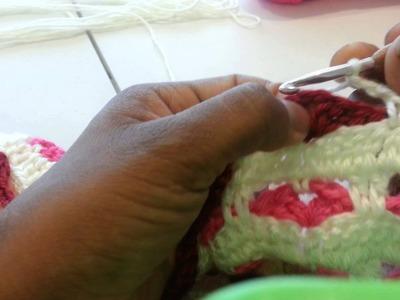 Cobija para niña tejida a crochet