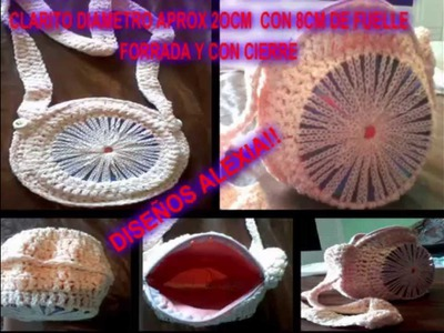COMO HACER CARTERAS CON CROCHET Y CD