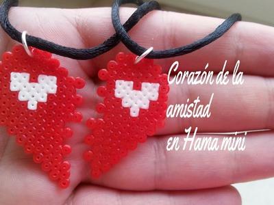 Corazon de la amistad (San Valentin) Hama bead mini (perler beads)